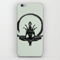 Meditation Alien iPhone & iPod Skin