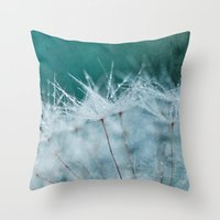 Dandelion Pearls Throw Pillow