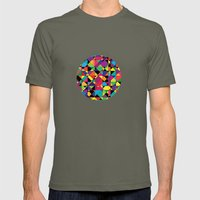 Abstract shapes Mens Fitted Tee Lieutenant SMALL