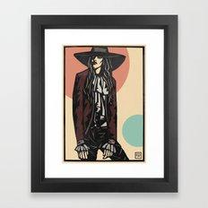 Cowboy hat girl  Framed Art Print