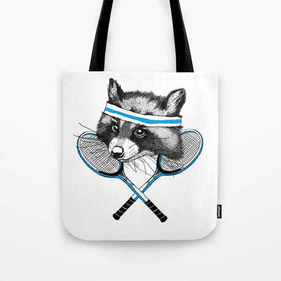Little Raccoons Tennis Club Tote Bag