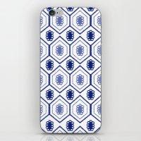 Mali Floral Blue iPhone & iPod Skin