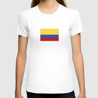 colombia country flag Womens Fitted Tee White SMALL