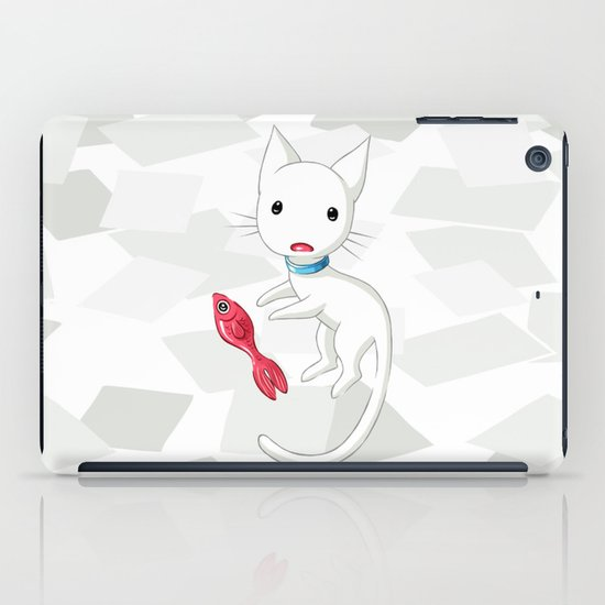 Cat and Fish iPad Case
