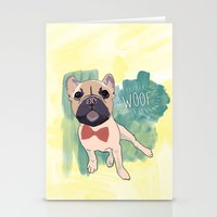 Frenchie Art. Bruno. Stationery Cards
