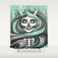Lady Hades Shower Curtain