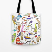 Birds. bird, pattern, animals, kids, art, design, illustration,  Tote Bag