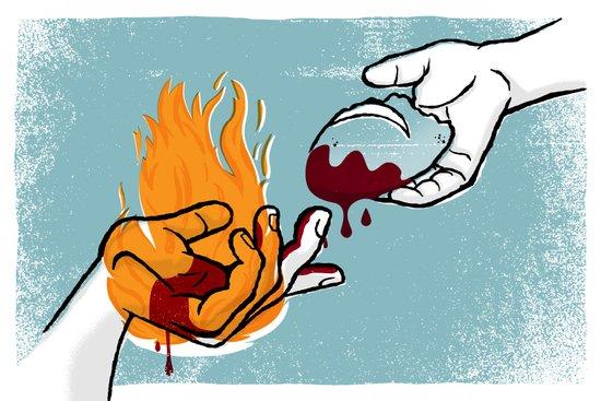 Satan Possesses Judas (by Shed Labs) Art Print