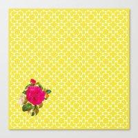 Floral Geometric Canvas Print