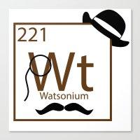 My Dear Watson Is Elemen… Canvas Print