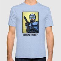 RoboCop Mens Fitted Tee Tri-Blue SMALL