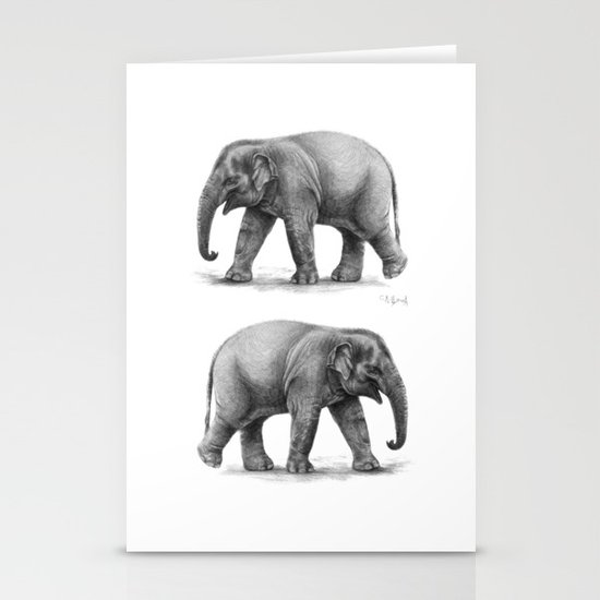 Elephant Baby G092 Stationery Card
