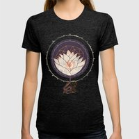 Lotus Womens Fitted Tee Tri-Black SMALL