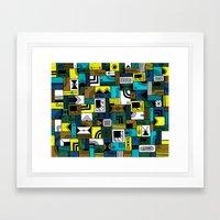 Napkin Darts Framed Art Print