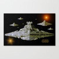 Galactic Battle Cruisers… Canvas Print