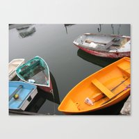 Rockport Rowboats 2 Canvas Print
