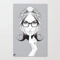 SHHHHH! Canvas Print