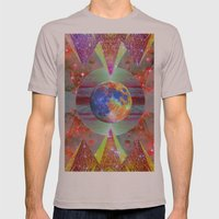 ☪elestial Pyramids Mens Fitted Tee Cinder SMALL