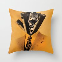 Mr. Microphone Throw Pillow