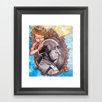 COME BACK OR LEAVE By Da… Framed Art Print