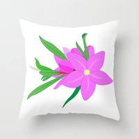 Flowers On The Wall  Throw Pillow