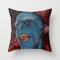 Hello Vampire Throw Pillow