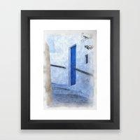 Greek Street Steps Framed Art Print