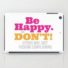 Be Happy iPad Case