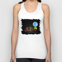 Watching The Moon Unisex Tank Top