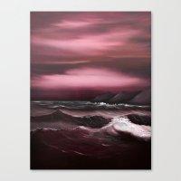 Sea Of Crimson Canvas Print