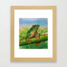 Green Treefrog Framed Art Print
