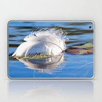 Swan Feather on Lake Laptop & iPad Skin