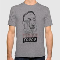 enjoy human error Mens Fitted Tee Athletic Grey SMALL