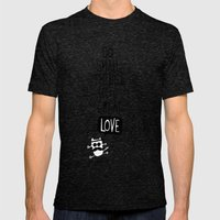 do small things with great love Mens Fitted Tee Tri-Black SMALL