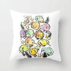 Kiwi Family Throw Pillow