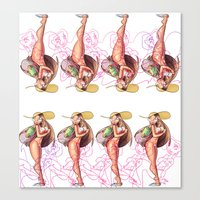 Beach Babe Print Canvas Print