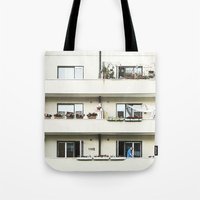 Looking at the neighbor. Tote Bag