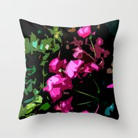 Rose Garden - Free Shipp… Throw Pillow