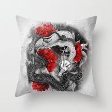 Two dragons Throw Pillow
