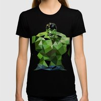 Polygon Heroes - Hulk Womens Fitted Tee Black SMALL
