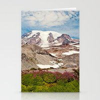 Mount Rainier Hike Stationery Cards