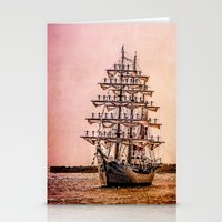 Tall ship Gloria Stationery Cards