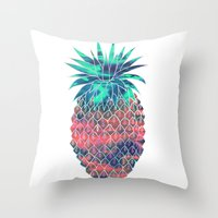 Maui Pineapple Throw Pillow