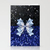 Brilliant Black And Blue… Stationery Cards