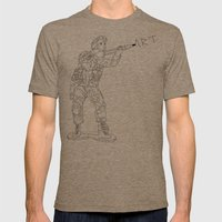 Military Art Mens Fitted Tee Tri-Coffee SMALL