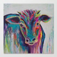 Texas Cow Canvas Print