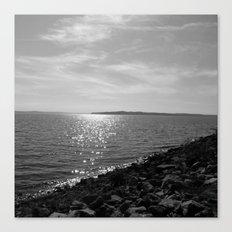 Pretty Day At The Lake Canvas Print