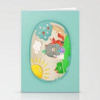 happy birthday Stationery Cards featuring happy birthday by Lidija Paradinović Nagulov - Celandine