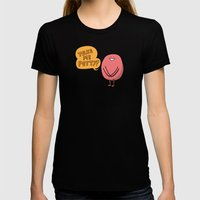 Wake Up Womens Fitted Tee Black SMALL