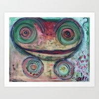 Frog is in the House Art Print